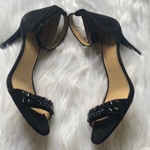 MICHAEL KORS Sylvie suede heeled sandals NWOT